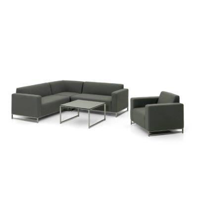 Quickdry Sofa Set Brava - eine Outdoor Loungegruppe bestehend aus einem Tisch und einem gemütlichen Sofa.