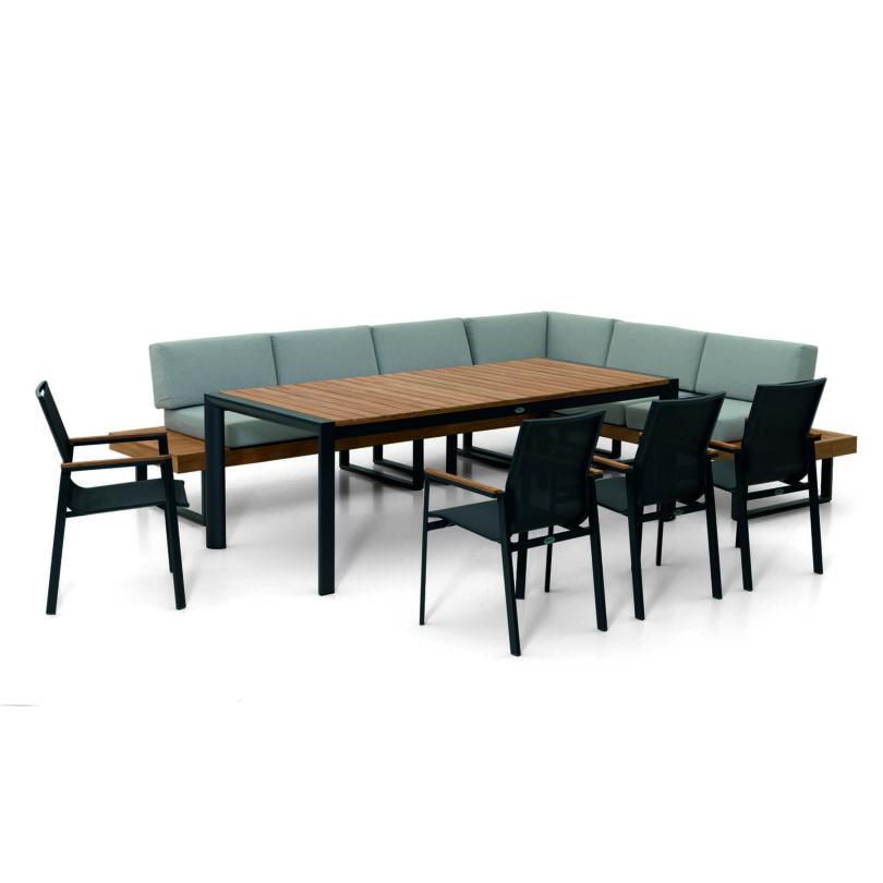 Lounge-Set Capri - eine Outdoor Loungegruppe bestehend aus einem Tisch und einer Eckbank.