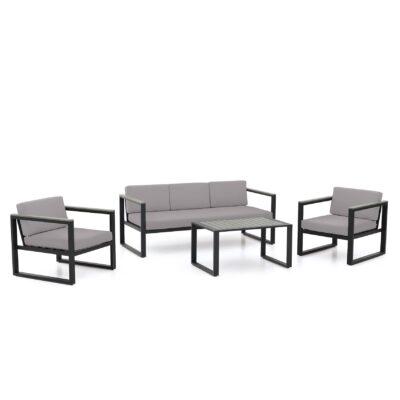 Das Set Porto, bestehend aus einem Tisch, einer Bank und zwei nicht stapelbaren Sesseln, ist jetzt im Teak-It Onlineshop erhältlich.