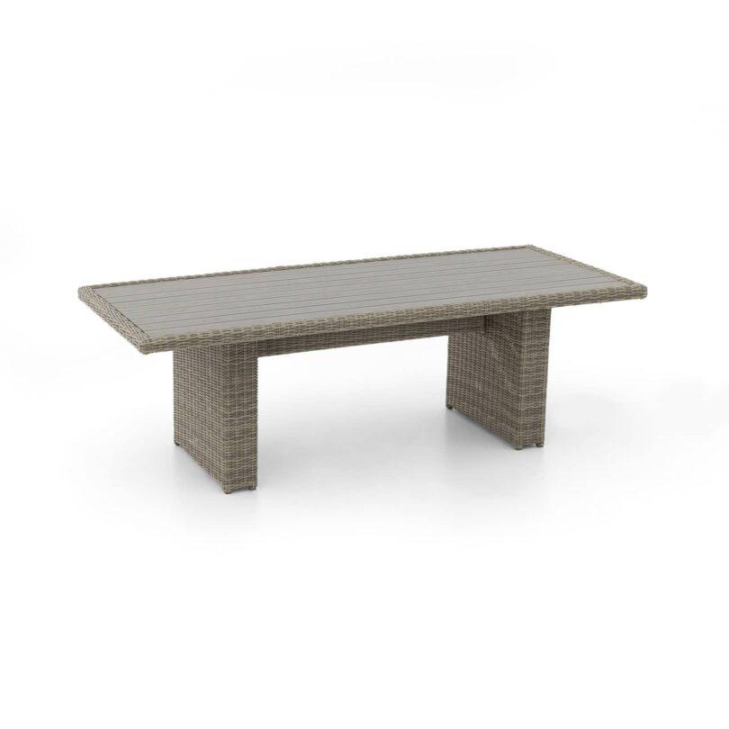 Tisch Monaco Kunststoffplatte rauchgrau